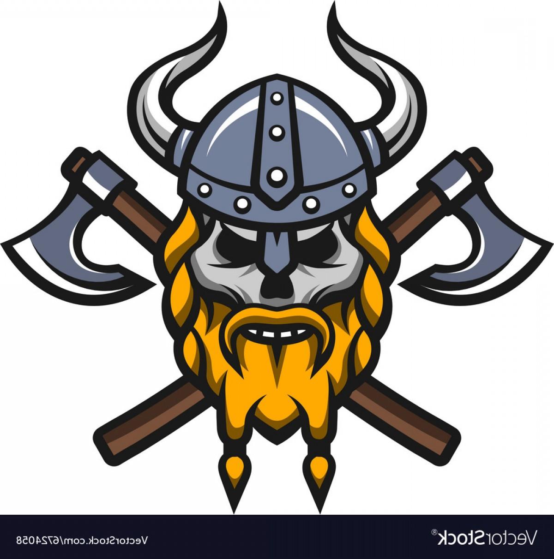 Warrior post clipart picture download Viking Warrior Skull And Axes Logo Vector | HandandBeak picture download