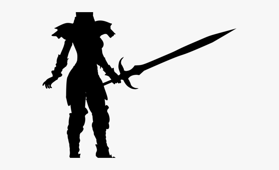 Warrior sword clipart banner freeuse Woman Warrior Clipart Sword Silhouette - Portable Network ... banner freeuse
