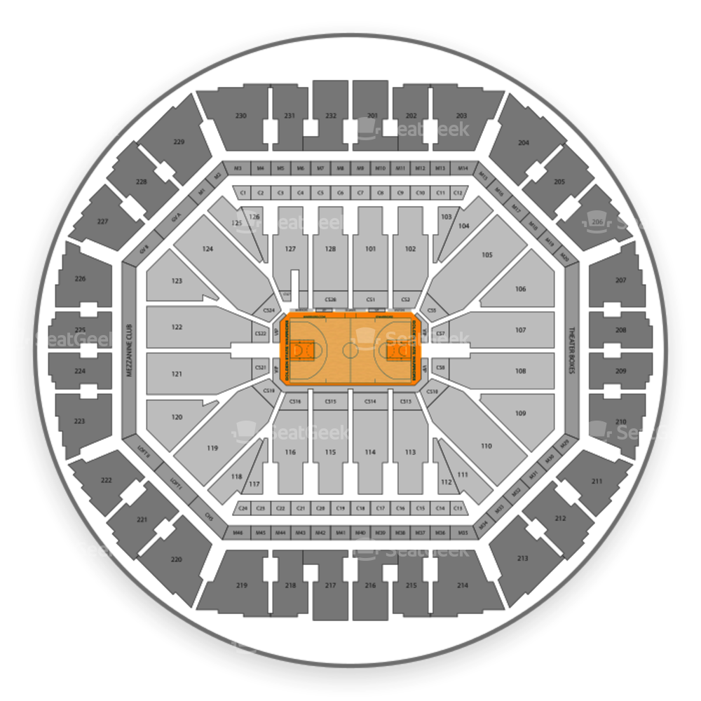 Warriors basketball ticket clipart clipart freeuse Golden State Warriors Seating Chart & Map | SeatGeek clipart freeuse