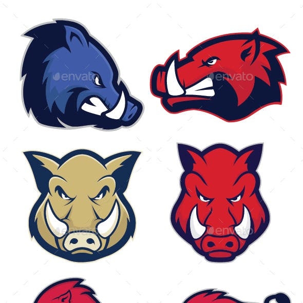 Warthog mascot clipart vector black and white download Warthog Graphics, Designs & Templates from GraphicRiver vector black and white download