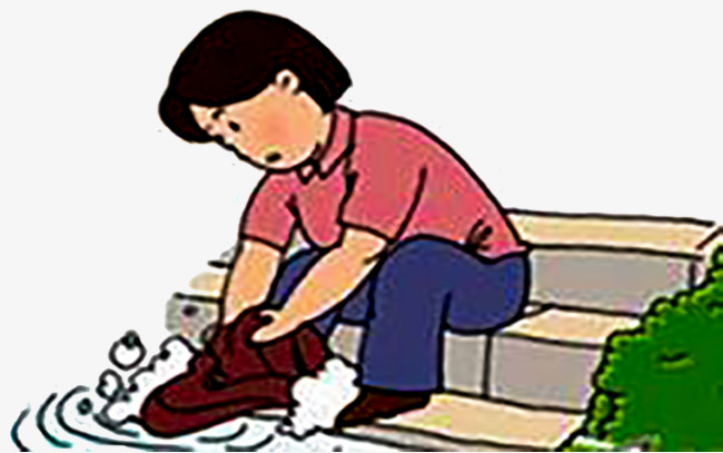 Wash in the river clipart