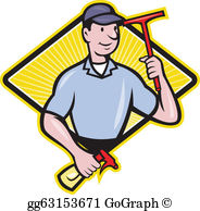 Wash windows clipart graphic free library Window Cleaner Clip Art - Royalty Free - GoGraph graphic free library