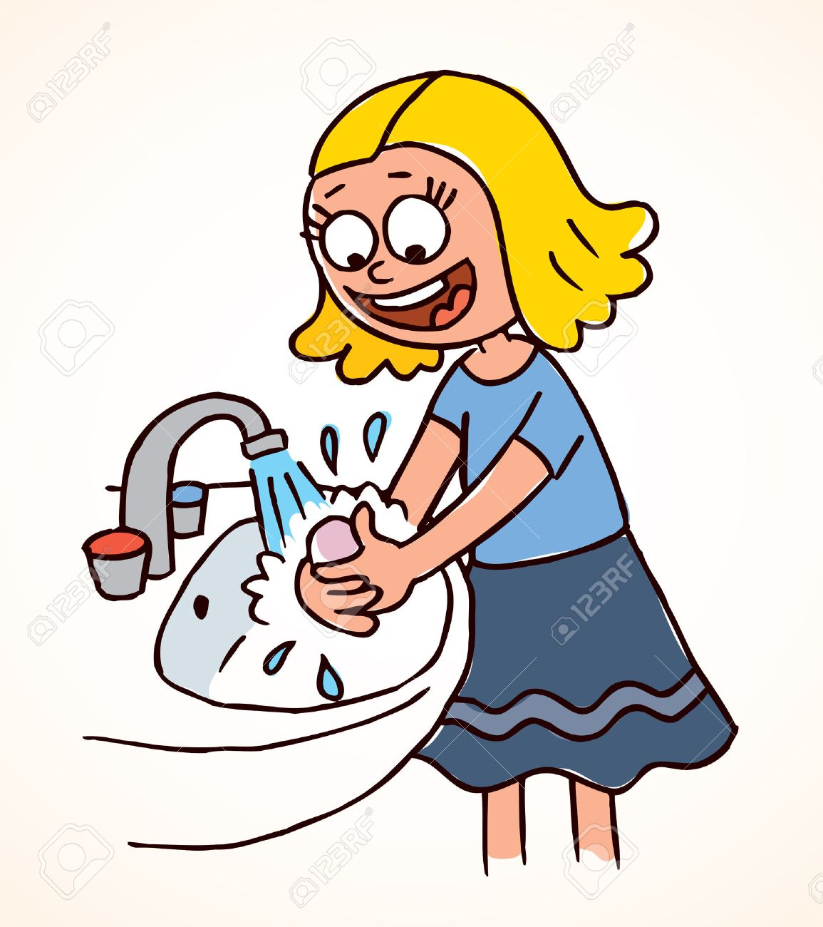 Wash your hands clipart clipart black and white Wash your hands clipart 5 » Clipart Station clipart black and white
