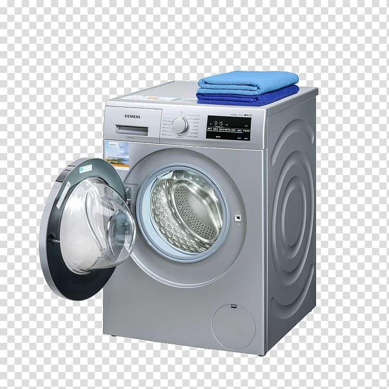 Siemens clipart jpg royalty free download Washing machine Home appliance Siemens, Full automatic drum ... jpg royalty free download