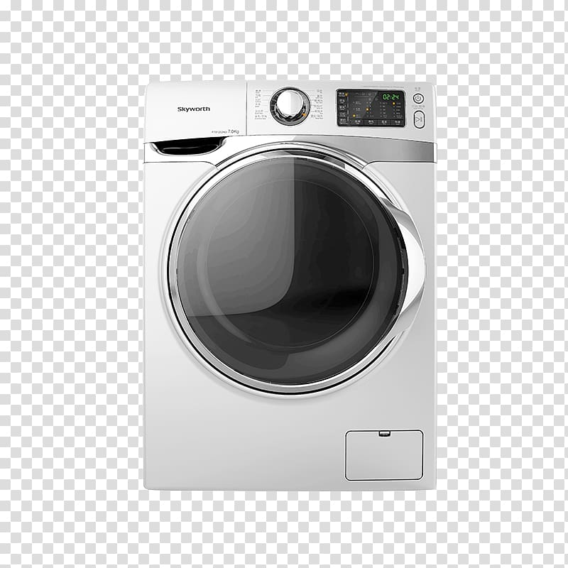 Washer clipart transpartnet background image black and white library Clothes dryer Washing machine Haier, Skyworth automatic drum ... image black and white library