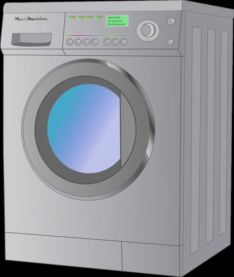 Transparent washing machine clipart image black and white Washing Machine PNG Images Transparent Free Download ... image black and white