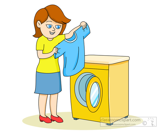 Washing clipart picture royalty free library Washing Clothes Clipart - Clipart Kid picture royalty free library