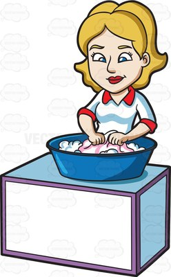 Washing clothes by hand clipart jpg freeuse stock wash Cartoon Clipart jpg freeuse stock