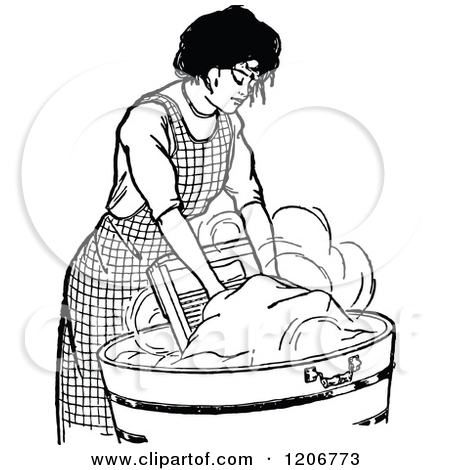 Washing clothes by hand clipart graphic Doing laundry by hand clipart - ClipartFest graphic
