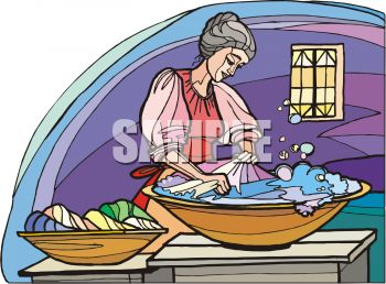 Washing clothes by hand clipart png download Woman Washing Laundry by Hand - Royalty Free Clipart Image png download