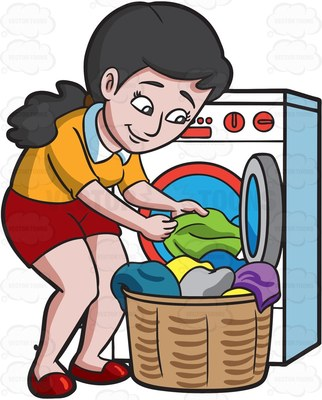Washing clothes by hand clipart royalty free library Doing laundry by hand clipart - ClipartFest royalty free library