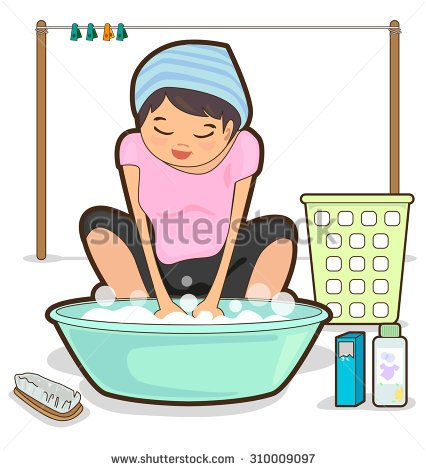 Washing clothes by hand clipart clip transparent library Wash clothes clipart - ClipartFest clip transparent library