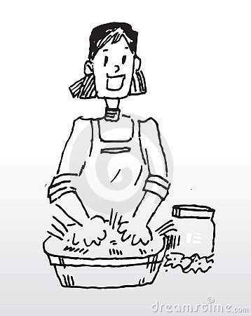 Washing clothes by hand clipart black and white Hand Washing Cloth Stock Image - Image: 6482491 black and white
