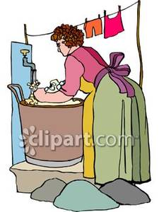Washing clothes by hand clipart picture stock Washing Clothes Clipart - Clipart Kid picture stock