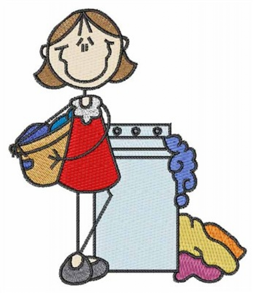 Washing clothes clipart banner transparent people embroidery design girl washing clothes from bella mia ... banner transparent