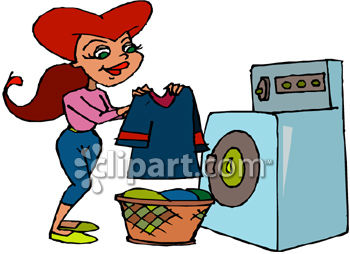 Washing clothes clipart jpg library stock Clean Laundry Clipart - Clipart Kid jpg library stock