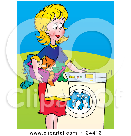 Washing clothes clipart picture transparent stock Royalty-Free (RF) Washing Machine Clipart, Illustrations, Vector ... picture transparent stock