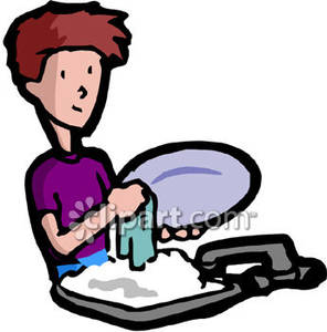 Washing dishes by hand clipart graphic black and white library Dish boy clipart - ClipartFox graphic black and white library