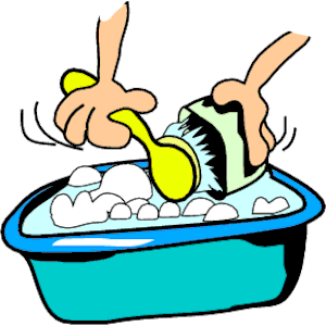 Washing dishes by hand clipart clip art stock Washing dishes clip art - ClipartFest clip art stock