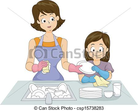 Washing dishes by hand clipart banner free stock Washing dishes Stock Illustrations. 1,775 Washing dishes clip art ... banner free stock