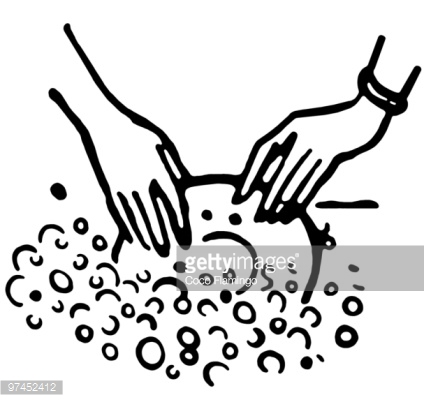 Washing dishes by hand clipart graphic black and white library Man Washing Dishes Vector Art | Getty Images graphic black and white library