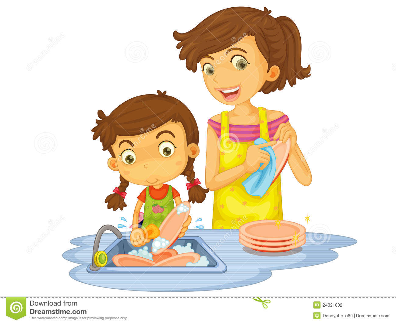 Washing dishes by hand clipart image transparent Washing dishes by hand clipart - ClipartFest image transparent