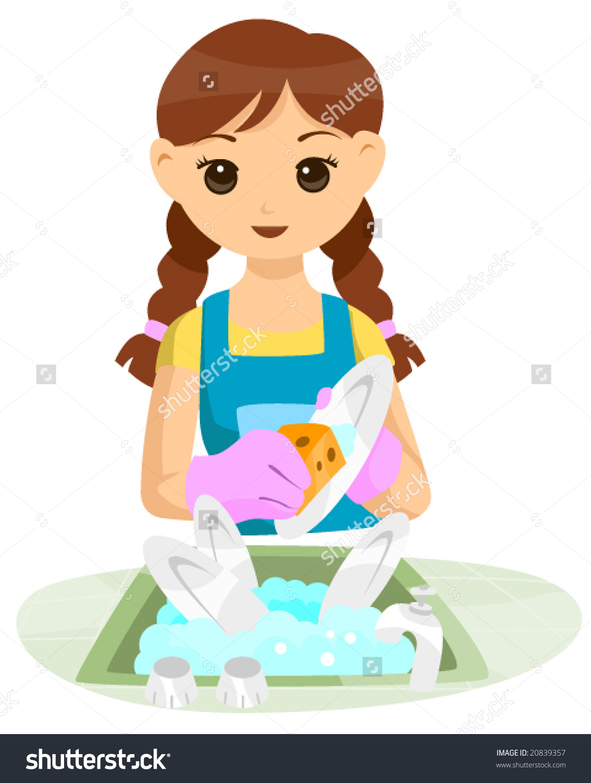 Washing dishes by hand clipart transparent stock Clipart washing dishes - ClipartFox transparent stock