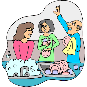 Washing dishes by hand clipart clipart download Clean Dishes Clipart - Clipart Kid clipart download