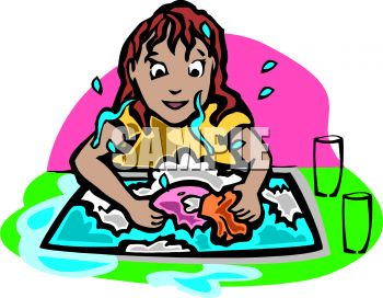 Washing dishes by hand clipart clip black and white stock Clipart washing dishes - ClipartFest clip black and white stock