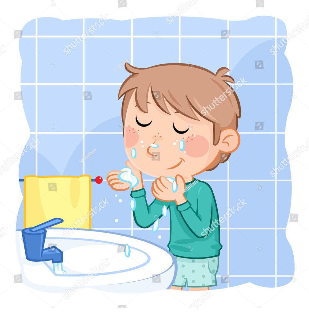 Washing face with soap clipart vector transparent library Washing Face Clipart Boy Comb - Clipart1001 - Free Cliparts vector transparent library