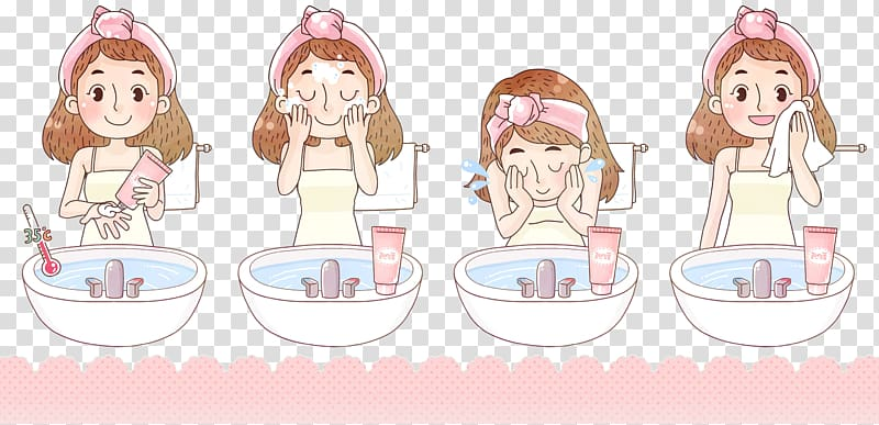 Washing face with soap clipart black and white stock Woman washing face illustration, Cleanser Soap Skin Volcanic ... black and white stock