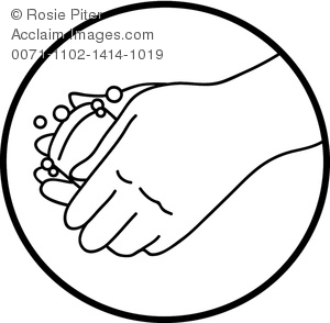 Washing hand clipart svg library stock Clipart Illustration of Washing Hands With Bar of Soap - Acclaim ... svg library stock