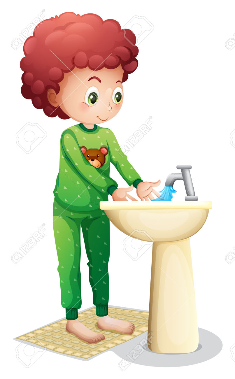 Washing hand clipart image royalty free library Boy washing hands clipart - ClipartFox image royalty free library