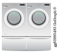 Washing machine and dryer clipart vector black and white download Washer Dryer Clip Art - Royalty Free - GoGraph vector black and white download