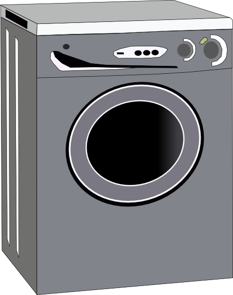 Washing machine clipart images banner black and white Washing Machine Clip Art at Clker.com - vector clip art online ... banner black and white