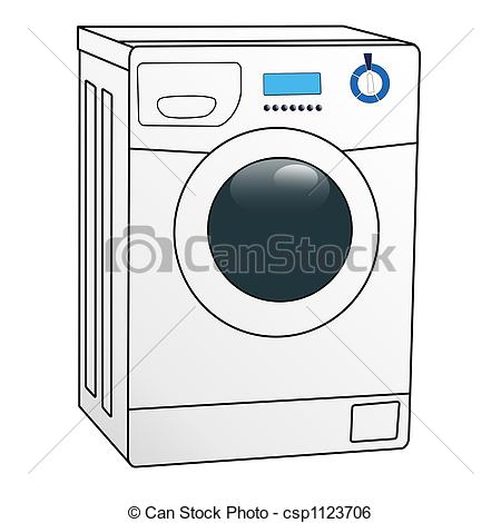 Washing machine clipart images jpg black and white Washing machine Stock Illustrations. 7,600 Washing machine clip ... jpg black and white