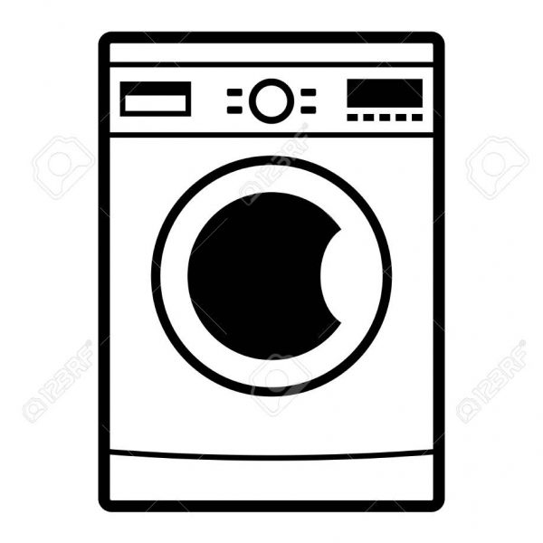 Washing machine clipart picture picture download Washing Machine Icon On White Background Royalty Free ... picture download