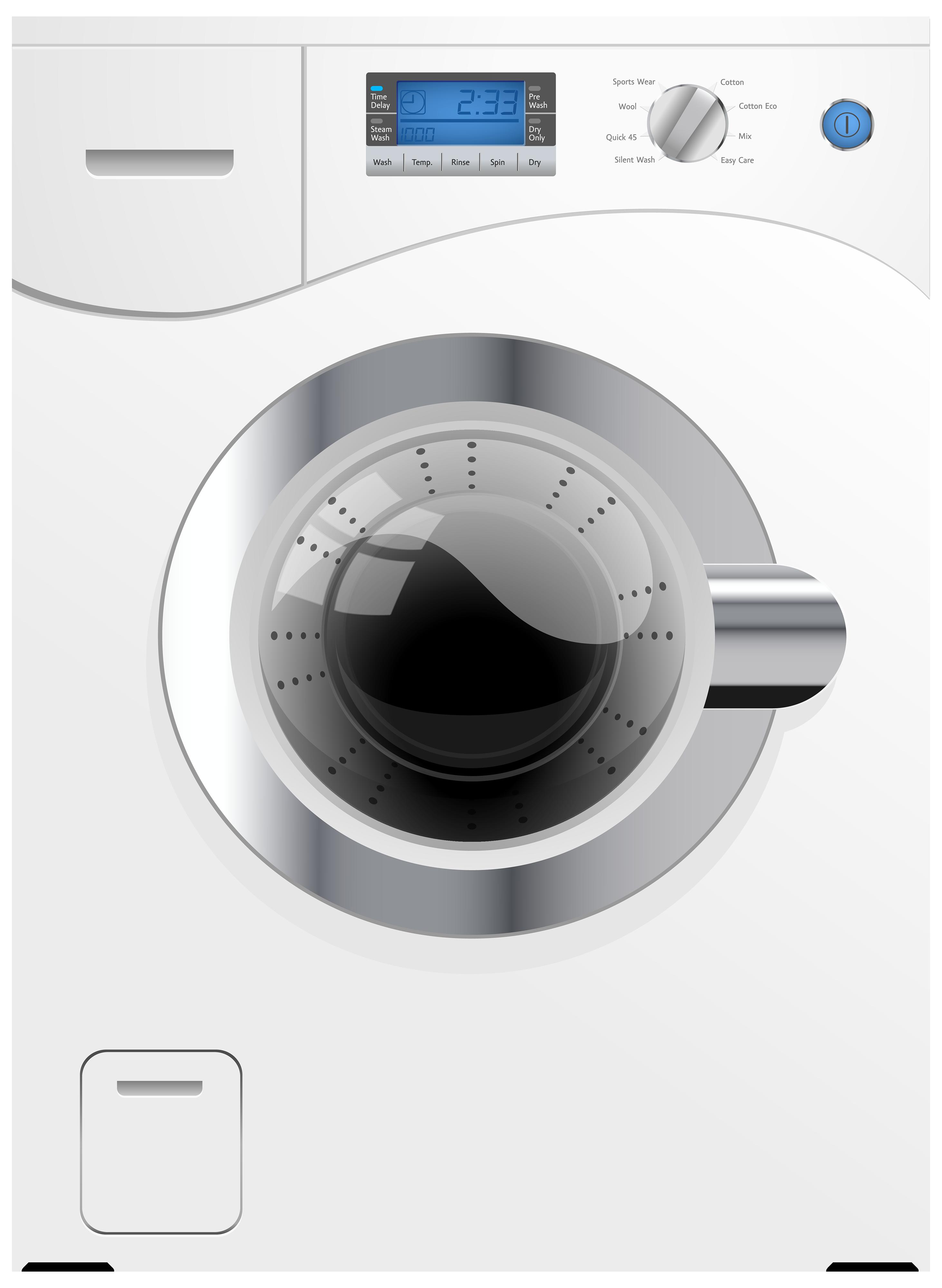 Washing machine clipart png jpg black and white White Washing Machine PNG Clipart - Best WEB Clipart jpg black and white