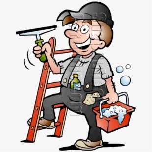 Washing window clipart banner freeuse stock Clean Vector Window Cleaner - Cartoon Window Cleaner #537080 ... banner freeuse stock