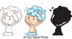 Washing your hair clipart image black and white Washing your hair clipart 3 » Clipart Portal image black and white