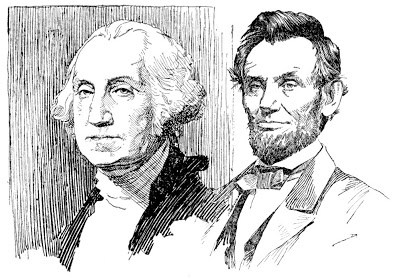 Washington and lincoln free clipart banner freeuse History for Children: FREE CLIP ART - Washington & Lincoln banner freeuse