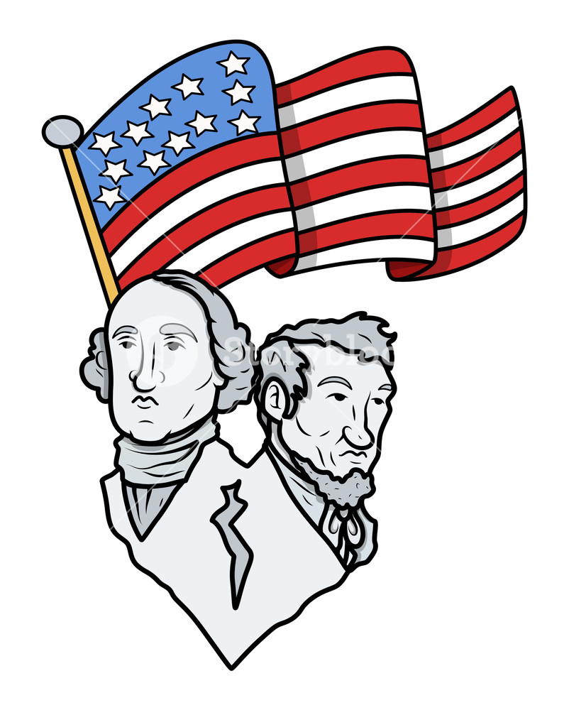 Washington and lincoln free clipart