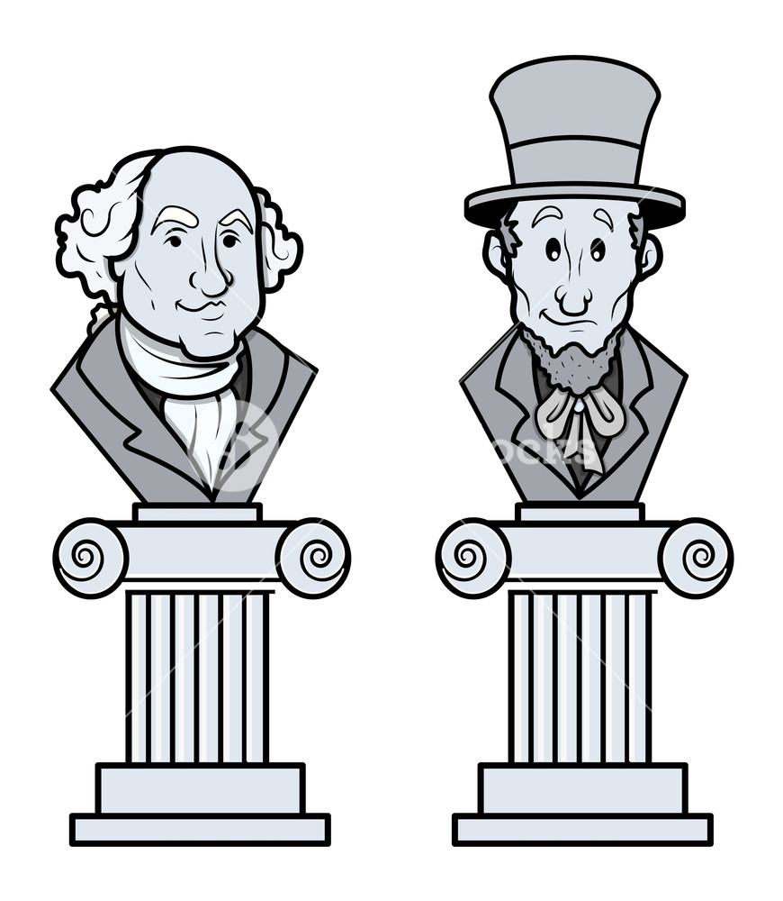 Washington and lincoln free clipart image freeuse stock Sculpture Of Abraham Lincoln And George Washington Vector ... image freeuse stock
