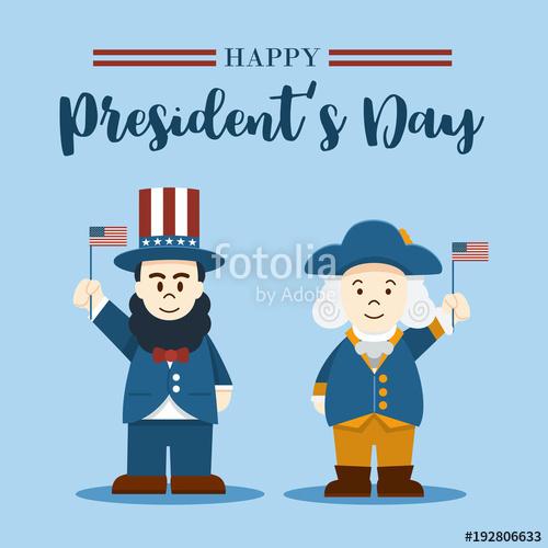 Washington and lincoln free clipart jpg transparent download Flat design, Cute Cartoon Abraham Lincoln and George ... jpg transparent download