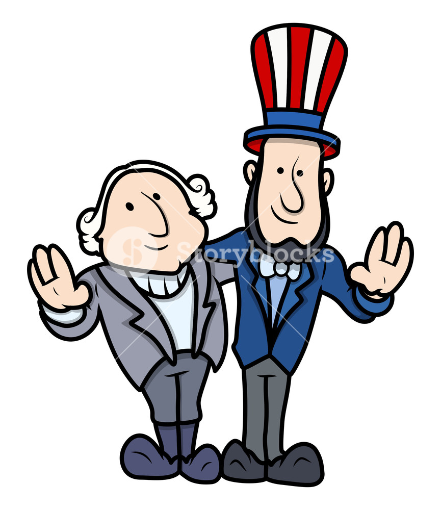 Washington and lincoln free clipart png freeuse library Washington And Lincoln Vector Cartoons On Presidents Day ... png freeuse library