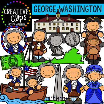 Washington day clipart jpg transparent George Washington Clipart - Presidents Day Clipart {Creative Clips Clipart} jpg transparent
