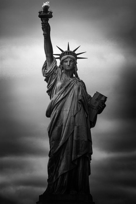 Washington dc statue black and white clipart graphic black and white stock Lady Liberty Black and White | NYC in 2019 | Statue of ... graphic black and white stock