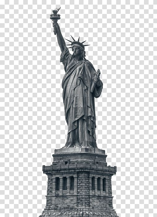 Washington dc statue black and white clipart banner royalty free library Statue of Liberty New York Harbor Colossus of Rhodes Ellis ... banner royalty free library