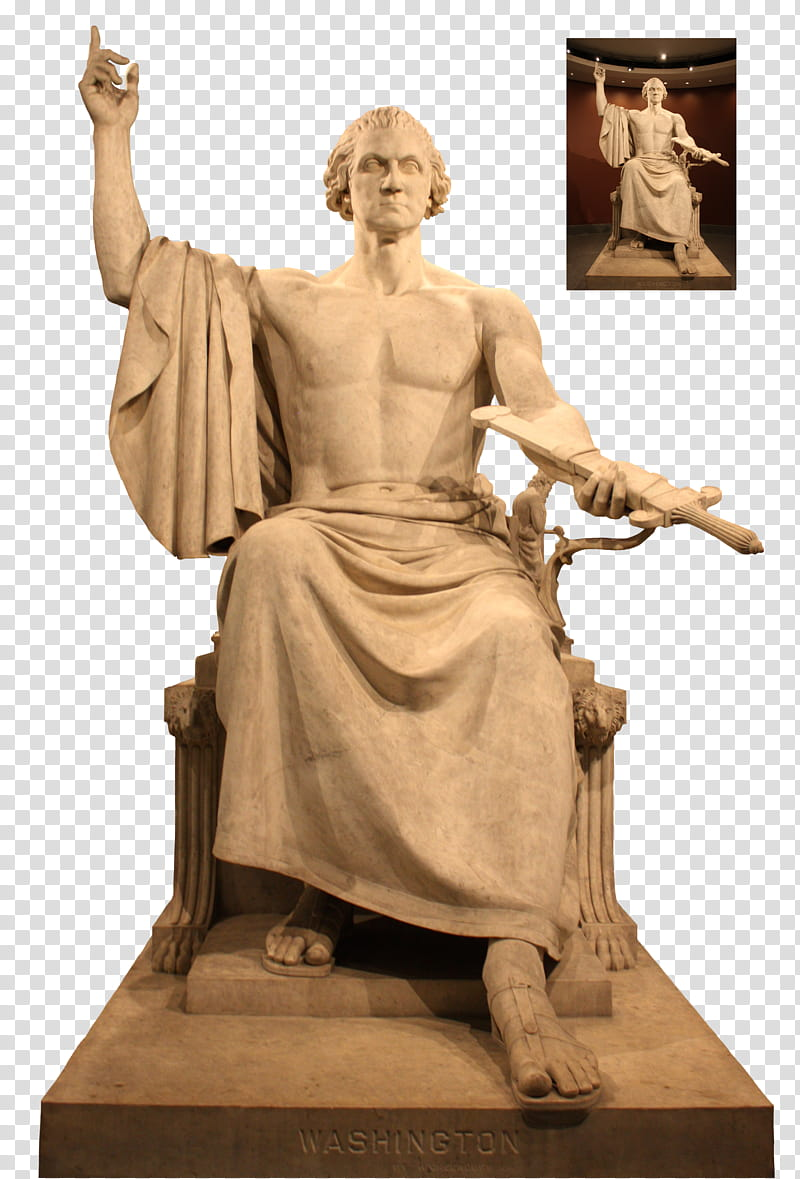 Washington dc statue black and white clipart clip art free stock George Washington Statue transparent background PNG clipart ... clip art free stock