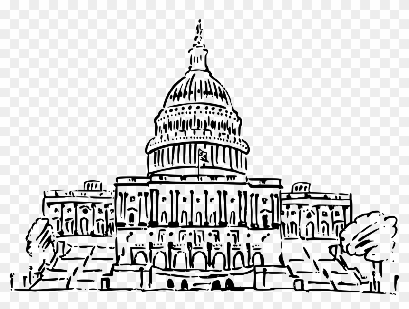 Capitol clipart transparent png transparent download Us Capitol Building Drawing Png Black And White - Us Capitol ... png transparent download